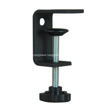 Black Powder Coating Metal Adjustable Table Clamp