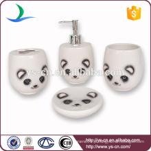 Novo design Ceramic Bathroom Set, panda banho acessório