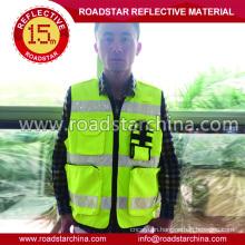 Waterproof reflective traffic vest