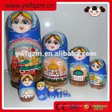 Großhandel billig Holz gemalte Puppe