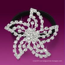 Forma la plata plateada del metal de la forma de la flor kknekki la venda elástico del pelo
