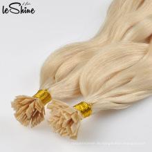 Beste Qualität doppelt gezogene flache Spitze Haarverlängerung
