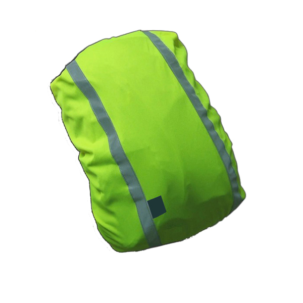 Polyester reflective bag cover with stripe