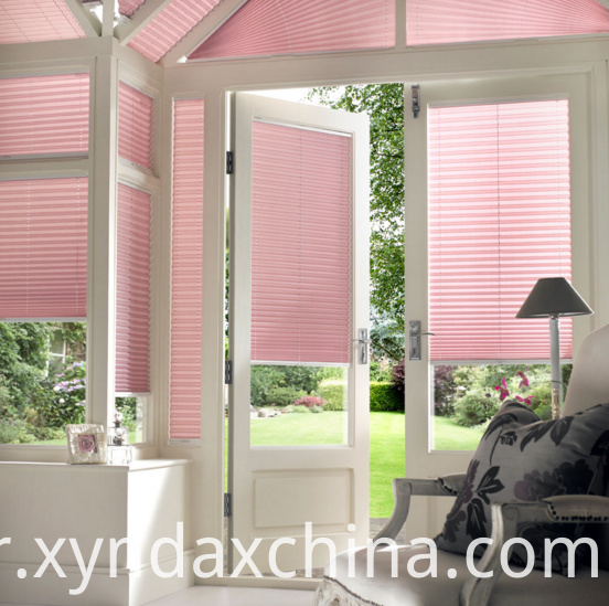 skylight cordless pleated blinds