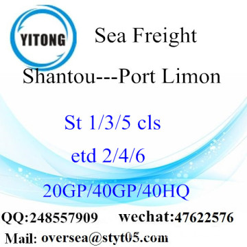 Shantou Port Sea Freight Shipping ke Port Limon