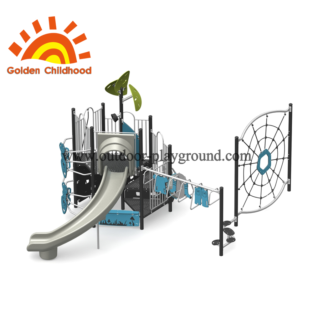 Blue Outdoor Playground Equipment For Fun