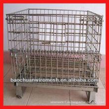 Jaulas de malla de acero galvanizado con ruedas