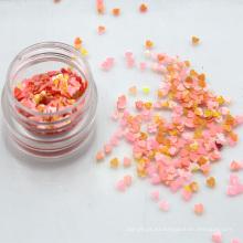 Venta al por mayor 2.5mm forma de corazón de acuarela Chunky Glitter Flakes lentejas de uñas