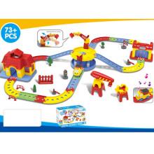 Los niños divertido pila de tren de la pista de tren conjunto de juguete (h1436092)