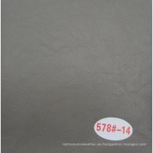 Cuero cáscara del aceite de cuero decorativo gris de la grieta para el sofá