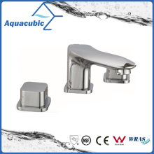 Three Hole Lavatory Faucet Brass Chromed Basin Faucet (AF0030-6)