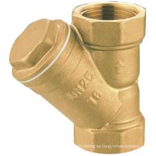 J606 Válvula de latón forjado, Fliter de agua, colador de tubería para tubería, hidráulica