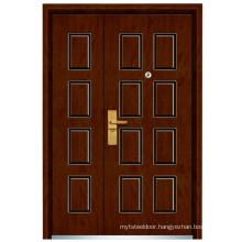 Mother and Son Steel Wooden Door (FXGM-C305B)
