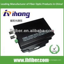 2 Canais Fibra Óptica Video Converter singlemode 20/40 / 60km qualidade de ponta