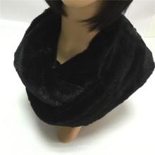 Black Fashion jovem pescoço PV Fleece Tube Scarf Factory