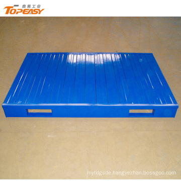 Customized powder coated single faced steel pallet for wholesales