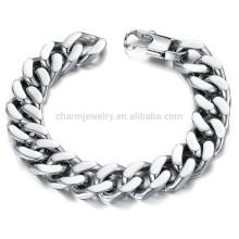 2015 Nueva personalidad dominante para destacar la pulsera de acero de titanio de la joyería del desgaste de la manera de los hombres no se descolora GS720