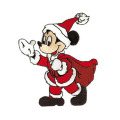 Natal Santa Mickey Mouse Bordir Patch
