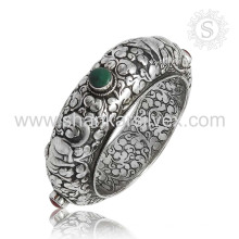 Schönes multi Edelstein silbernes Armband 925 Sterlingsilberschmucksachen handgemachter Schmucksachegroßhändler