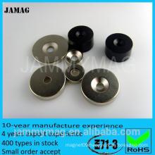 JM countersink magnet standard N35 rare earth magnet countersunk