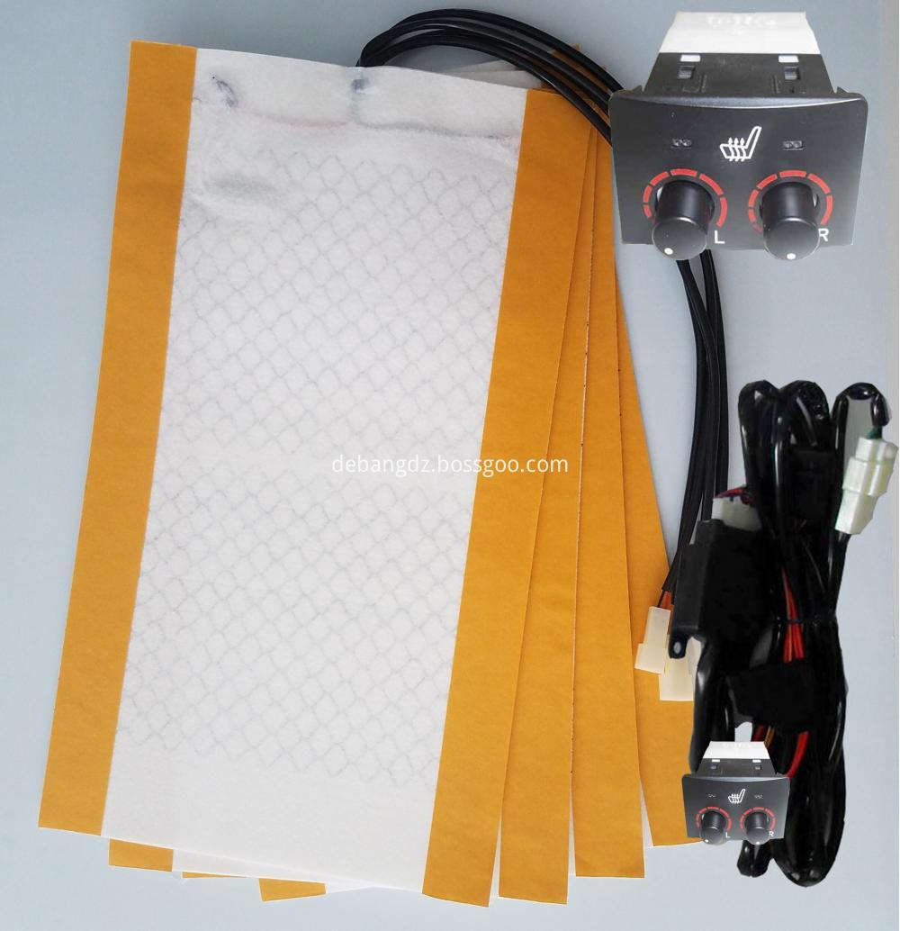 Land Cruiser Carbon Fiber Car Seat Heater45