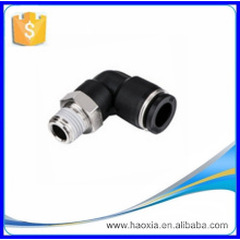 "Rosca de 1/4 ""a 8 mm Empuje para conectar el codo Conexión neumática PL"