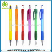 Cheap promotional chinese plastic pens with rubber grip