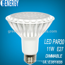 2014 hot sale UL 11W LED PAR30 , LED PAR light, White cup with TUV CE UL ENERGYSTAR approved