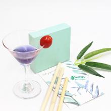 Customized Logo Natural 20Cm Biodegradable Bamboo Straws Set With Box