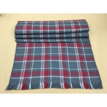 Alta Qualidade Inverno Moda 100% Lã Xadrez Vermelho Cachecol