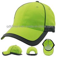 Reflectante al aire libre 100% poliéster neón de alta visibilidad de gorra de béisbol (TMB0682)