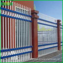 Einfache Installation niedrigster Preis Villen Zink Stahl Zaun mit niedrigem Preis