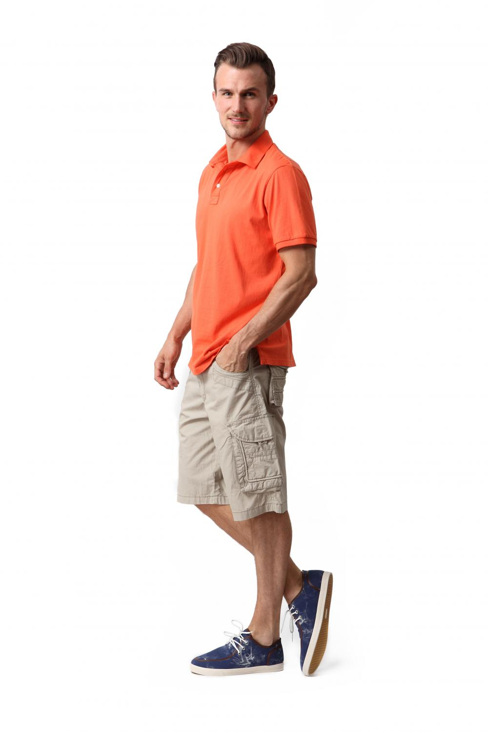 Men's cotton peach shorts