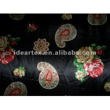 Polyester Printed Satin Fabric for Lady Dress