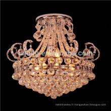 Nouvel éclairage de lustre, éclairage moderne de pendentif en cristal