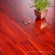 Plancher en bois solide d'Acacia lisse de longueur aléatoire