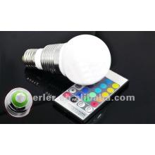 3W RGB automatic color changing led bulbs 100-240V