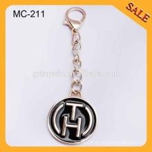 MC211 Пользовательские золотой металл повесить этикетку сумки логотип металл tagswith цепной крючок