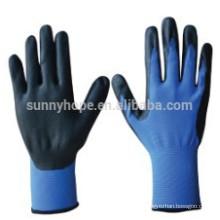 13Gauge Nylon Palme beschichtete Schaum Nitril Handschuhe