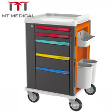 Hospital furniture Medical equipment mobile ABS medical emergency  trolley rescue Cart prices
