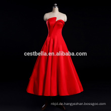 Einzigartiges Hochzeitskleid Red Sexy Satin Brautkleid Abendkleid Hochzeitszeremonie