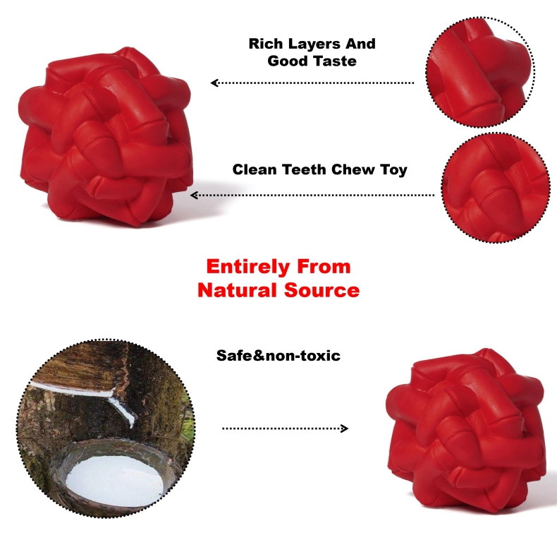 Tooth Cleaning Ball Dog Chew Toy