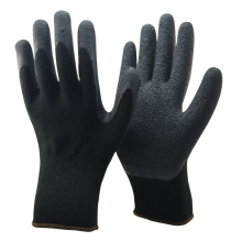 NMSAFETY 10 gauge black Nappy Acrylic Latex Coated Winter Safety Gloves