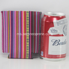Folding Neoprene Beer Striped Can Coolers