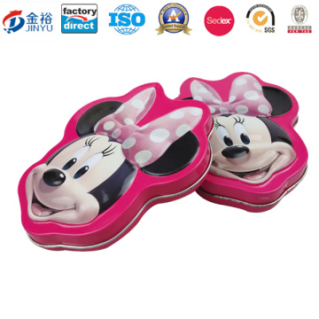 Embossing Mickey Shaped Metal Candy Food Container