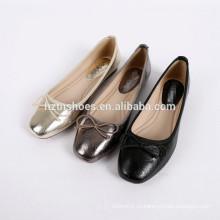 Элегантный женский кожаный ботинок с квадратным подноском bowtie ballerina flats for lady