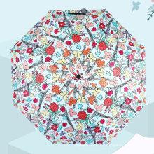Windproof Portable Mini Full Print Flower Printing 5 Folding Umbrella with Custom Logo