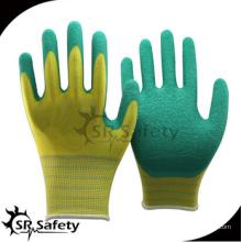 SRSAFETY дешевая цена / 13g полиэфирные латексные покрытые все рабочие рабочие перчатки / перчатки