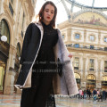 Kvinnor Reversible Cross Mink Fur Coat