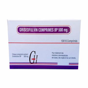 Griseofulvin 500 mg tabletas